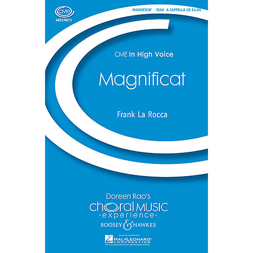 Boosey and Hawkes Magnificat (CME In High Voice) SSAA A Cappella composed by Frank La Rocca
