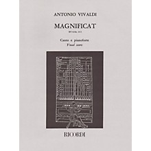 Ricordi Magnificat RV610a/RV611 (Vocal Score) SATB Composed by Antonio Vivaldi Edited by Raffaele Cumar