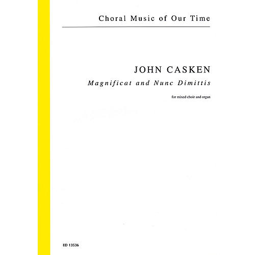 Schott Magnificat and Nunc Dimittis (Mixed Choir and Organ) Score Composed by John Casken