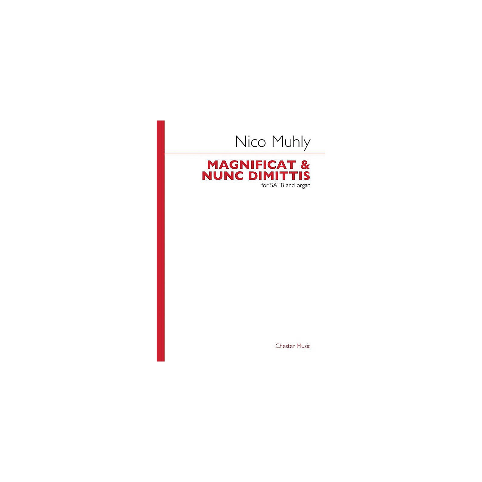 Music Sales Magnificat and Nunc Dimittis (SATB with organ) SATB, Organ Composed by Nico Muhly