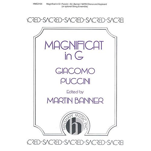 Hinshaw Music Magnificat in G SATB composed by Giacomo Puccini