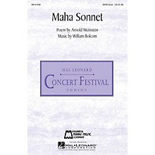 Edward B. Marks Music Company Maha Sonnet SATB Divisi composed by William Bolcom