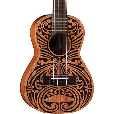 Luna Guitars Mahogany Tribal Tenor Ukulele