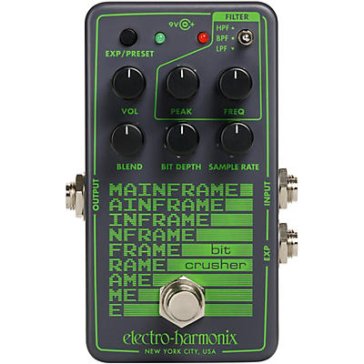 Electro-Harmonix Mainframe Bit Crusher Effects Pedal