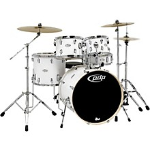 Mainstage 5-Piece Drum Set w/Hardware and Paiste Cymbals White