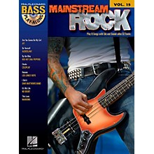Hal Leonard Mainstream Rock - Bass Play-Along Volume 15 Book/CD