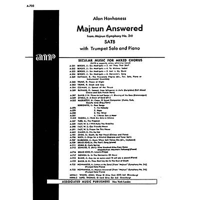 Associated Majnun Answered From Maj Nun Symph. #24      With Trumpet Solo And Piano SATB composed by A Hovhaness