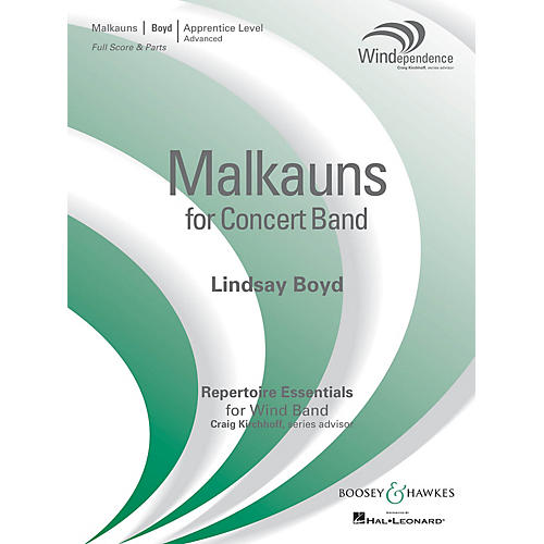 Boosey and Hawkes Malkauns (Score Only) Concert Band Level 3 Composed by Lindsay Boyd