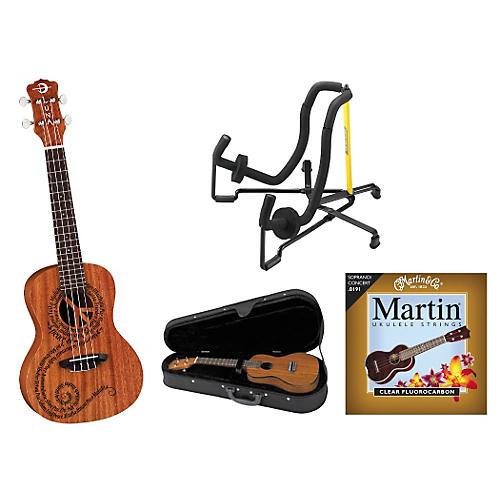 Luna Guitars Maluhia Concert Ukulele Bundle