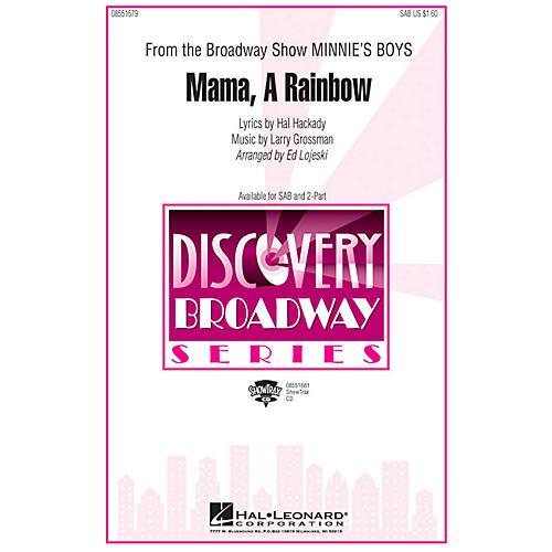Hal Leonard Mama, A Rainbow (from Minnie's Boys) ShowTrax CD Arranged by Ed Lojeski