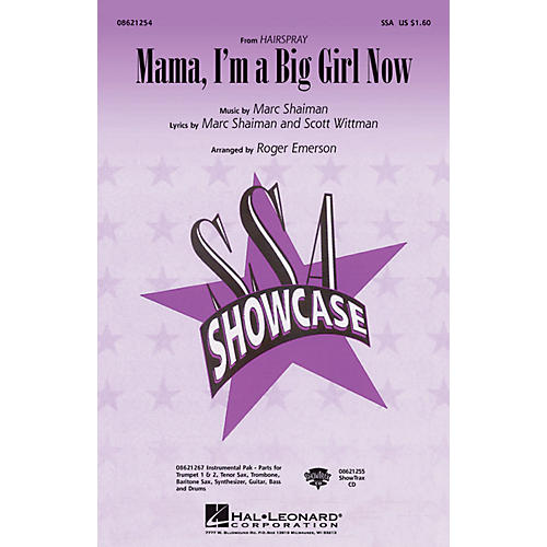Hal Leonard Mama, I'm a Big Girl Now (from Hairspray) ShowTrax CD Arranged by Roger Emerson