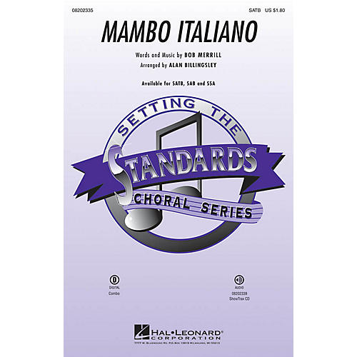 Hal Leonard Mambo Italiano (ShowTrax CD) ShowTrax CD by Rosemary Clooney Arranged by Alan Billingsley