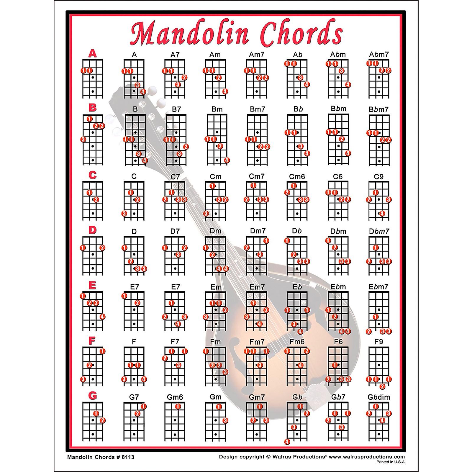 Walrus Productions Mandolin Chord Mini Chart