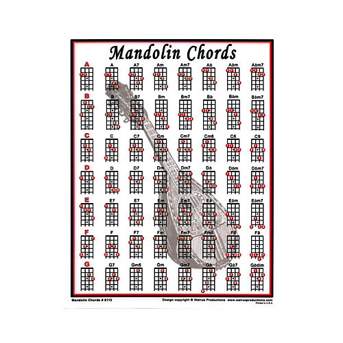 Walrus Productions Mandolin Chord Mini Chart  MusicianS Friend