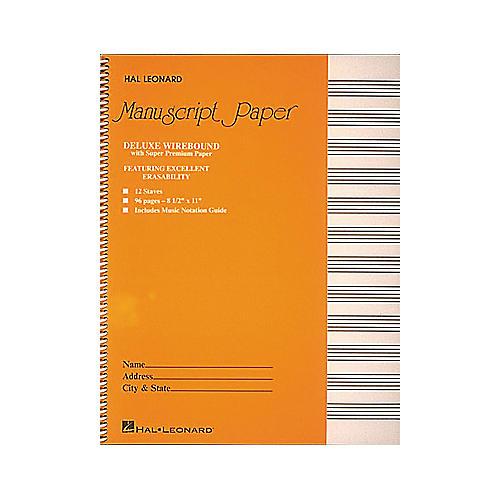Hal Leonard Manuscript Paper 96 Page 12 Staves 8 1/2