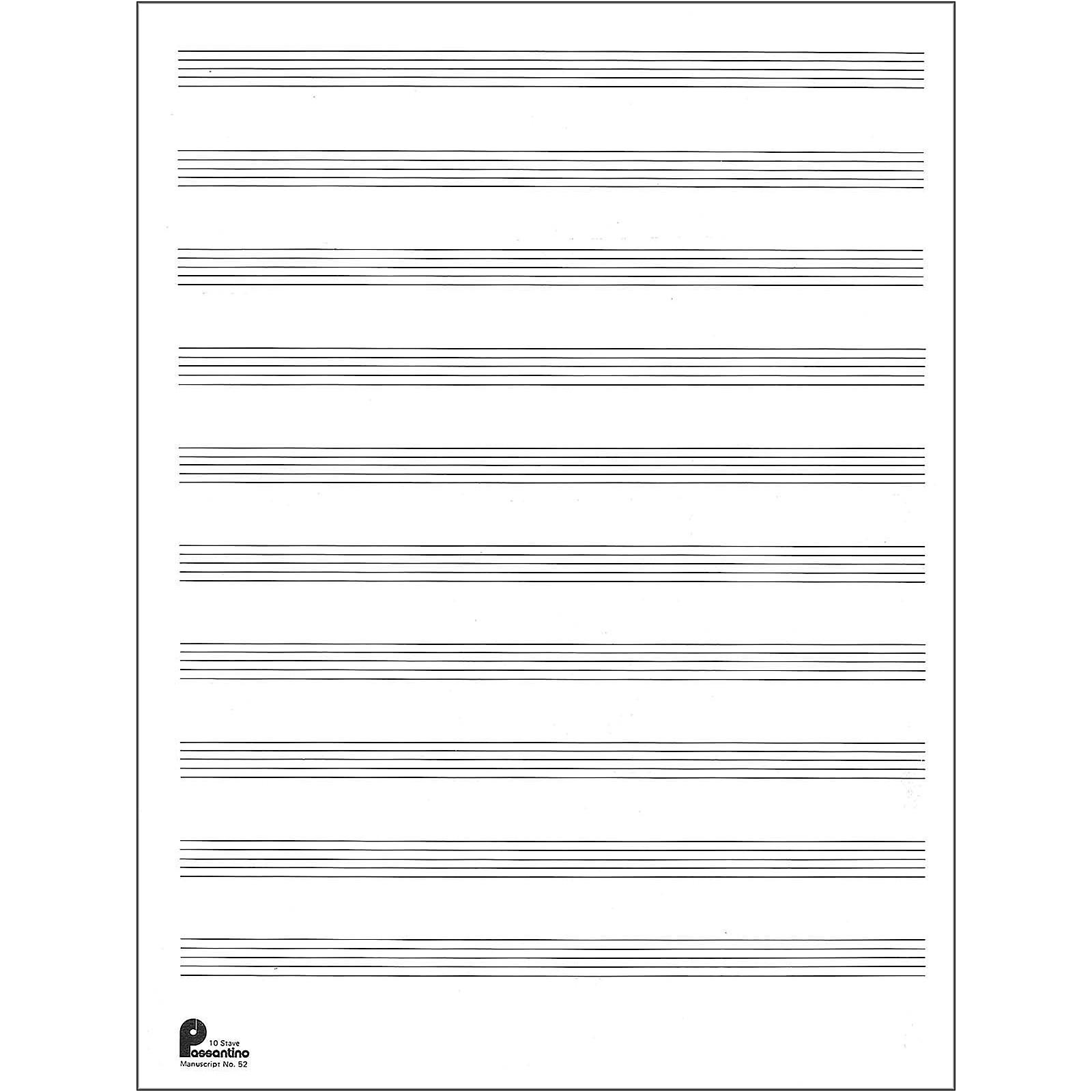 Music Sales Manuscript Paper No.2 24 Double Fold Sheets, 9X12, 10 Stave, 96 Pages