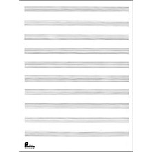 Music Sales Manuscript Paper No.2 24 Double Fold Sheets, 9X12, 10 Stave, 96 Pages