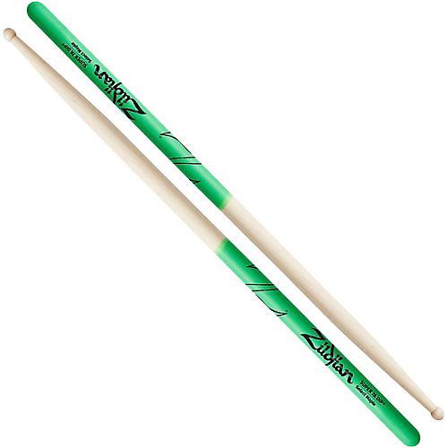 Zildjian Maple Green DIP Drum Sticks Super 7A Wood Tip