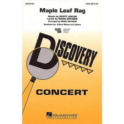 Hal Leonard Maple Leaf Rag 2-Part arranged by Mark Brymer