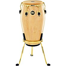 Marathon Exclusive Series Conga with Stand 12 in. Natural/Gold Tone Hardware