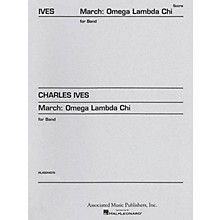 Associated March Omega Lambda Chi (Full Score) Concert Band Composed by Charles Ives