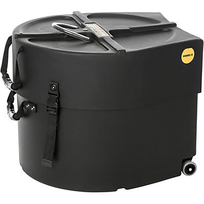 HARDCASE Marching Bass Drum Case with Wheels