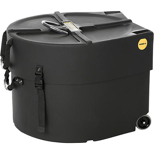 HARDCASE Marching Bass Drum Case with Wheels 18 in.