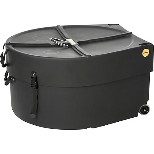 hardcase marching bass drum case with wheels musician 39 s friend. Black Bedroom Furniture Sets. Home Design Ideas