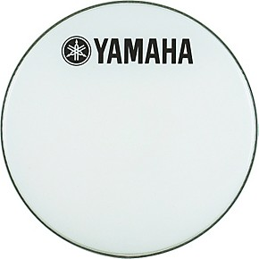 yamaha marching bass drum head with fork logo white 28 in musician 39 s friend. Black Bedroom Furniture Sets. Home Design Ideas