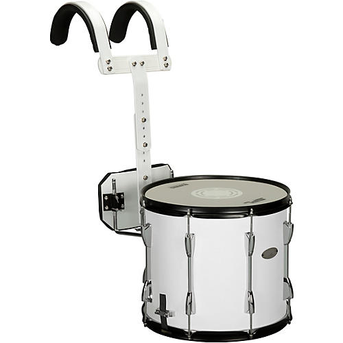 Sound Percussion Labs Marching Snare Drum with Carrier 14 x 12 in. White