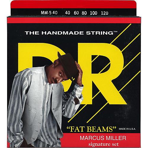 DR Strings Marcus Miller MM5-40 Fat Beams Lite 5-String Bass Strings .120 Low B