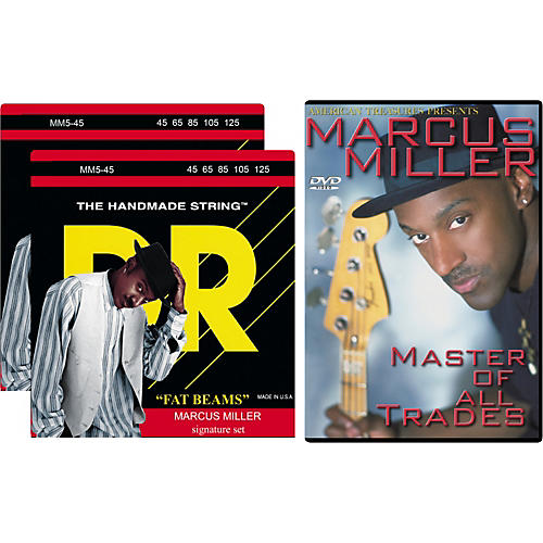 DR Strings Marcus Miller MM5-45 5-String Bass Two-Pack with DVD