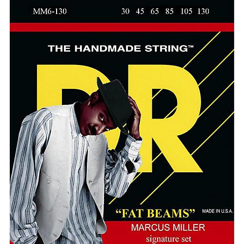 DR Strings Marcus Miller MM6-130 Fat Beams Medium 6-String Bass Strings .130 Low B