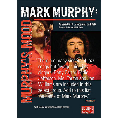 Hal Leonard Mark Murphy - Murphy's Mood (Visions of Jazz Series) DVD Series DVD Performed by Mark Murphy