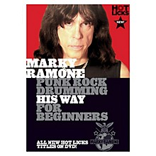 Music Sales Marky Ramone - Punk Rock Drumming His Way for Beginners Music Sales America Series DVD by Marky Ramone