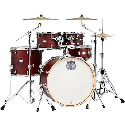 Mapex Mars Birch 5-Piece Special Edition Shell Pack Cherry Red