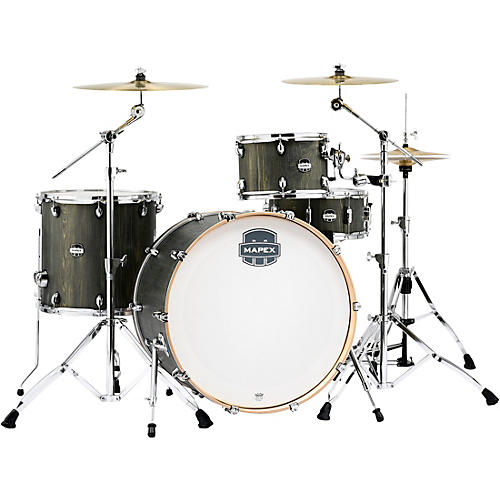 Mapex Mars Series 4-Piece Rock Shell Pack with 24 in. Bass Drum Dragonwood Chrome