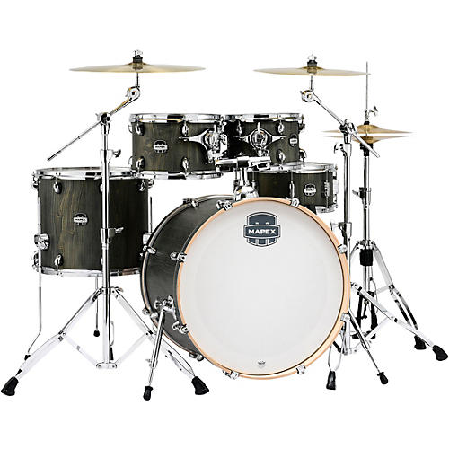 Mapex Mars Series 5-Piece Rock Shell Pack with 22 in. Bass Drum Dragonwood Chrome