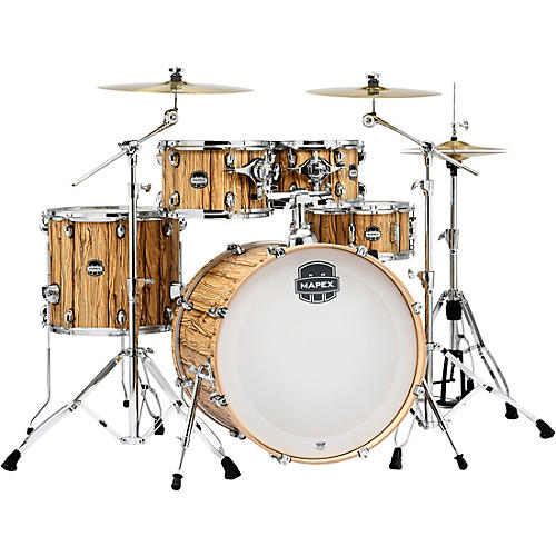 Mapex Mars Series 5-Piece Rock Shell Pack with 22 in. Bass Drum Driftwood Chrome