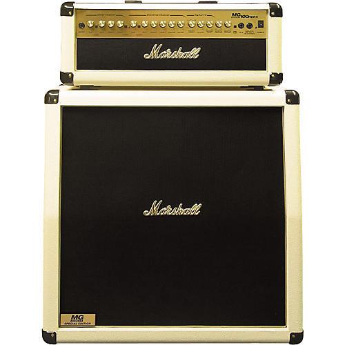 Marshall Marshall Limited Edition MG100HDFX and MG412A Half Stack White