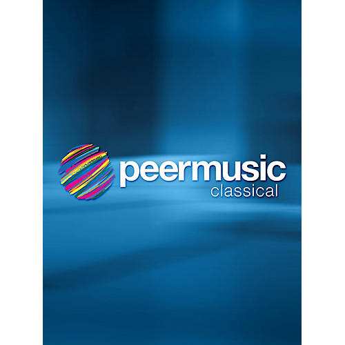 Peer Music Marsias (Oboe and Water Glasses) Peermusic Classical Series Book
