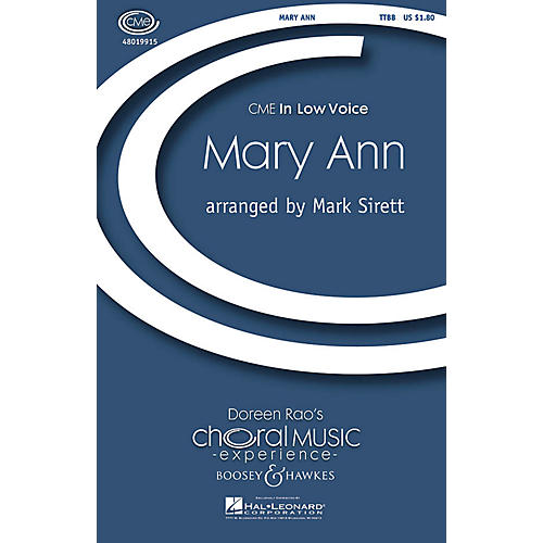 Boosey and Hawkes Mary Ann (CME In Low Voice) TTBB arranged by Mark Sirett