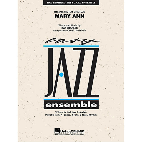 Hal Leonard Mary Ann (from RAY) Jazz Band Level 2 by Ray Charles Arranged by Michael Sweeney