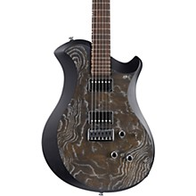 Mary One Electric Guitar Black Burl Ash/Black Edge