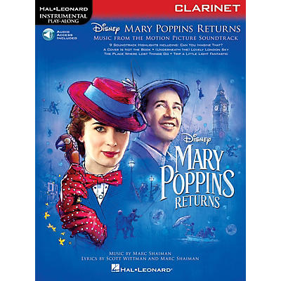 Hal Leonard Mary Poppins Returns for Clarinet Instrumental Play-Along Songbook Book/Audio Online