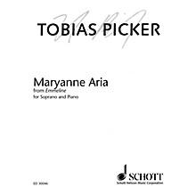Schott Maryanne Aria from Emmeline (Soprano and Piano) Opera Series  by Tobias Picker