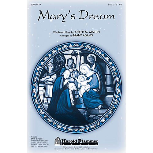 Shawnee Press Mary's Dream INSTRUMENTAL ACCOMP PARTS Arranged by Brant Adams