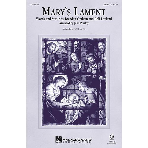 Hal Leonard Mary's Lament SAB Arranged by John Purifoy