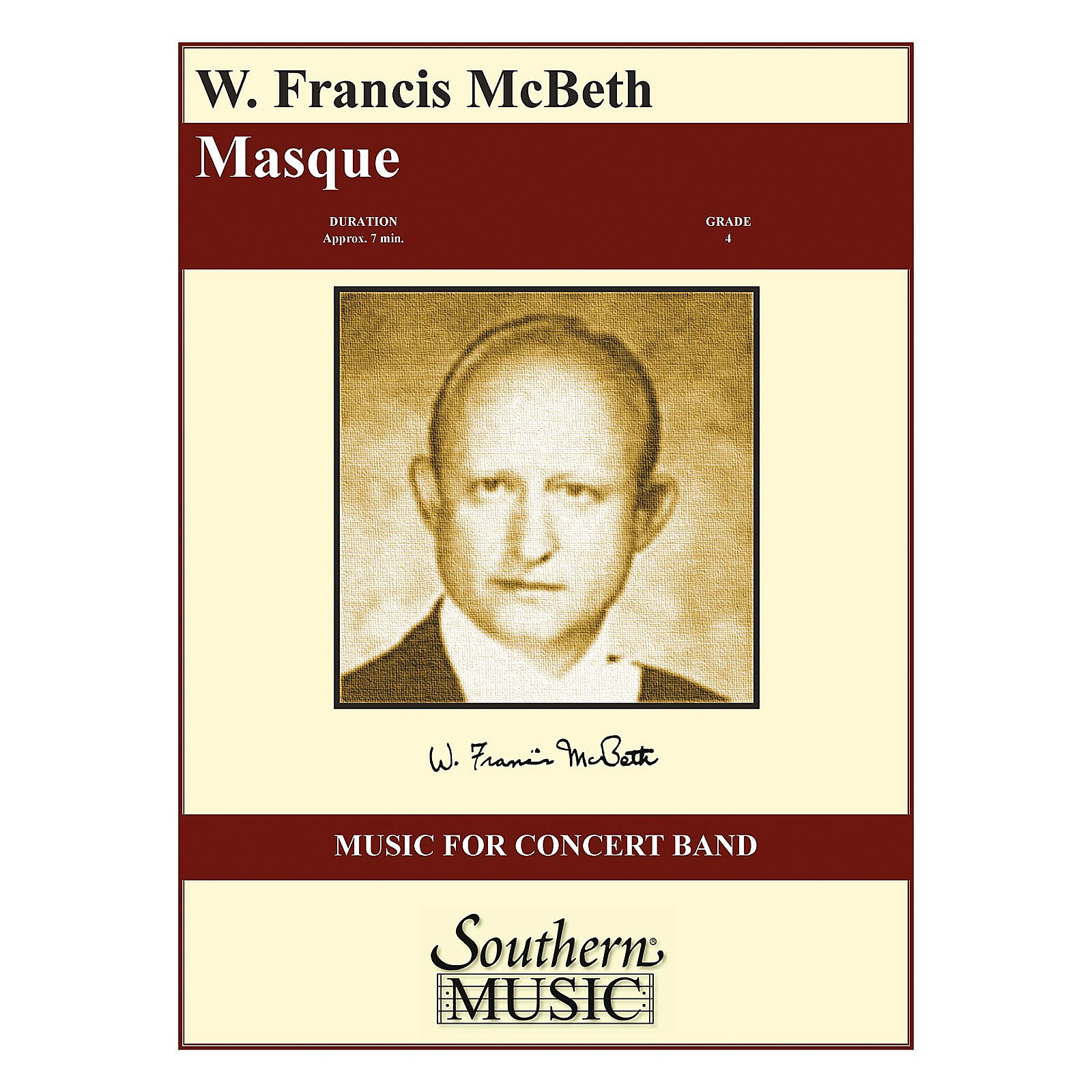 Southern Masque (Full Score) Concert Band Level 4 Composed by W. Francis McBeth