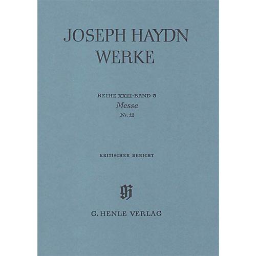 G. Henle Verlag Mass No. 12 (Harmonie Mass) Henle Edition Series Hardcover